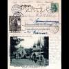 DR 1902, Sonder Stpl. Ausstellung Zittau auf entspr. AK m. 5 Pf. u. Vignette