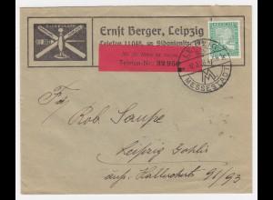 DR 1926, Leipzig Werbung Reklame Brief Siegel Lack m. 5 Pf. #2101