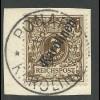 Karolinen 1 II, 3 Pf. Steilaufdruck auf schönem Briefstück m. Stpl. PONAPE