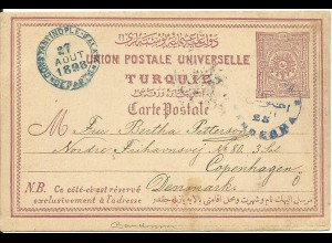 Turkey 1898, blue BANDERMA (Anatolia) on stationery. Type not listed in C&W