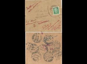 DR 1932, 5 Pf. auf Streifband v. Ludwigslust n. Indien, dort Nachsendung