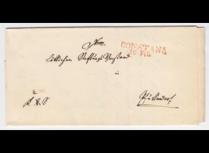Baden 184., rot L1 Constanz klar auf Brief n. Pfullendorf. #1952