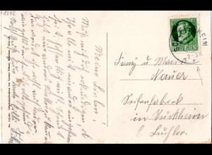 Bayern 1917, Reserve Stpl. SCHLEISSHEIM R auf Karte m. 7 1/2 Pf.