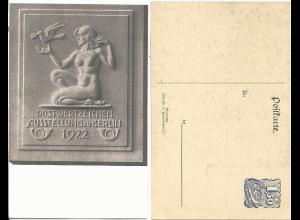 DR PP54 C2, ungebr. Privat Ganzsache Postwertzeichen Ausstellung Berlin 1922