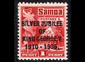 Samoa 72C *, unused 1d lake (SG 177ax) with perforation 14/14 1/2. ex P. Jensen