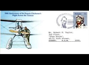 Australia 1981, 50th Anniv of Francis Chichester solo trans-Tasman flight cover