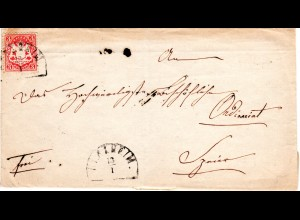 Bayern 1871, 3 Kr. auf Brief v. HKS HERXHEIM n. Speyer