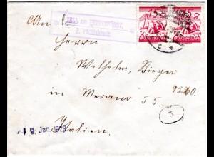 Österreich 1929, Brief m. Posthifstelle Zell am Pettenfürst P. Vöcklabruck