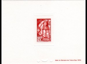 Marokko Mi. Nr. 310, Épreuve Luxe 5+10 Fr. Les Cuivres