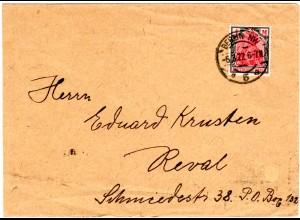 DR 1922, 4 Mk. auf Auslands Brief v. Berlin n. Estland.
