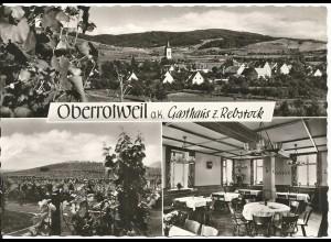 Oberrottweil a.K., Gasthaus z. Rebstock, ungebr. sw-AK
