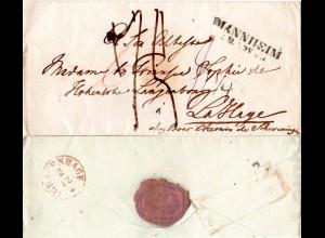 Taxis 1842, L2 WEIMAR auf Porto Brief n. S´Grafenhage Holland, NL