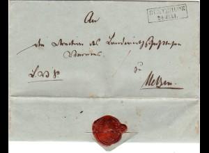 Hannover 1851, R2 BUXTEHUDE auf gesiegltem Brief m. kpl. Inhalt