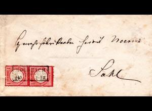 DR 1873, GOLDBACH, Ostpreussen-R2 auf Brief m. Paar 1 Gr. gr. Brustschild.