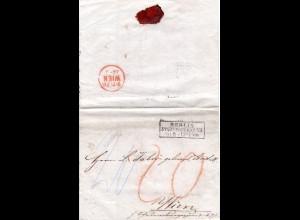 """Preussen 1861, R3 BERLIN StPExp. XII auf Porto Brief (""""20"""" Kreuzer) n Österreich"""