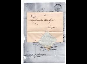 Hannover 1848, Ovalstpl. u. KLD auf gesiegltem Brief m. kpl. Inhalt v. Stade