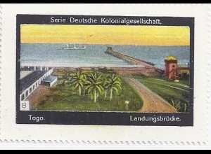 Togo, Landungsbrücke, Sammel Vignette Dt. Kolonialgesellschaft.#1063