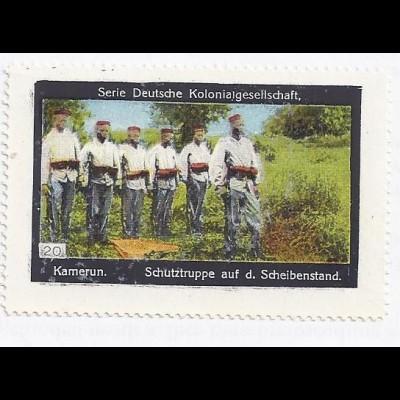 Kamerun, Schutztruppe am Scheibenstand, Sammel Bild Dt. Kolonialgesellschaft.#28