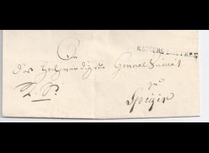 Bayern , grünlich-schwarzer L1 Kaiserslautern auf Falt Brief m. rs. Siegel. #663
