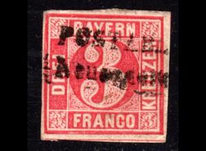 Bayern, L2 POSTABLAGE Neuendettelsau auf breitrandiger 3 Kr.