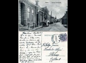 Dänemark, Burum Strassenszene m. Personen, 1923 gebr. sw-AK