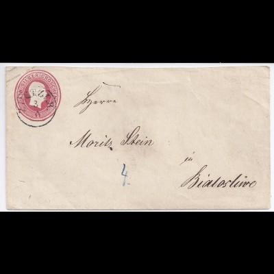 Polen, Preussen Brief Stpl. K1 Zuetzer ( Szczuczarz ), 1 SGr Ganzsache. #652