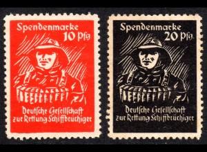 BRD, 10+20 Pf. Spendenmarken der Dt. Gesellschaft zur Rettung Schiffbrüchiger