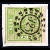 Bayern 5, sehr breitrandige 9 Kr. Wappen auf Briefstück m. oMR-Stpl. 325