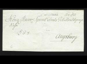 Bayern, Buchloe.R.3. auf Brief n. Augsburg. #1224