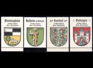 Bayern, Hofheim, Euerdorf, Fladungen, Kleinlangheim, 4 Unterfranken Sammelmarken