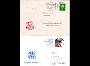 BRD 1959/69, 2 Belege der Narhalla Landshut