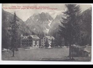 Italien, Schluderbach Carbonin Toblach, gebr. sw-AK Hotel Sigmundsbrunn. #333