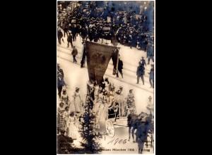 München, Festzug Dt. Bundes Schiessen 1906, ungebr. sw-Foto-AK