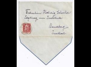 Bayern 1912, Tettau, klar auf kl. Präge Zier Brief m. 10 Pf. n. Beuerberg. #1711
