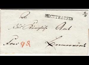 Hannover, L1 HECHTHAUSEN 8/11 auf Franco Brief n. Bremervörde.