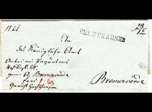 Hannover, L1 HECHTHAUSEN 28/12 auf Paket Brief n. Bremervörde.