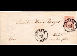 NDP 1870, 1/2 Gr. auf Orts Brief v. MEISSEN