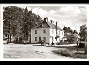 Schweden, Tallasen m. Post u. Möbelgeschäft, gebr. sw-Farb-AK