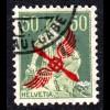 Schweiz 145, gebr. 50 C. Flugpost m. Propeller-Aufdruck.