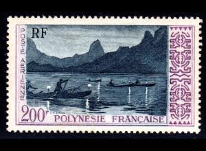 Franz. Polynesien 13**, 200 F. Nachtfischer, postfrischer Höchstwert