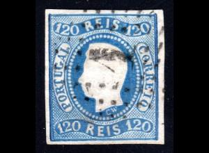 Portugal 24, 120 R., breitrandiges u. sauber gestempeltes Stück