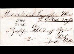 Österreich 1839, Böhmen-L2 v. MIES auf Gerichts Brief