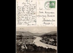 Bayern 1910, Bahnpost Stpl. Tölz-München 3 auf sw AK v. Bad Tölz.