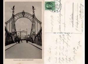 Bayern 1918, Bahnpost Stpl. MÜHLDORF-SALZBURG 2 auf sw AK v. Laufen