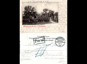 DSWA 1906, sw AK als Feldpost Karte v. Otjosondu ab OKAHANDIA m. Porto-Stempel