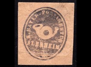 Bayern, ALERHEIM, Postamts Siegel-Stempel auf Briefstück