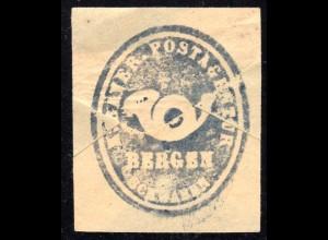 Bayern, BERGEN Schwaben, Postamts Siegel-Stempel auf Briefstück