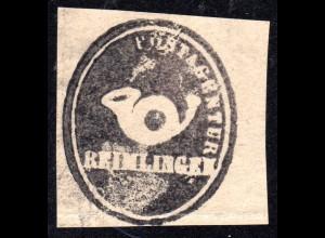 Bayern, REIMLINGEN, Postamts Siegel-Stempel auf Briefstück