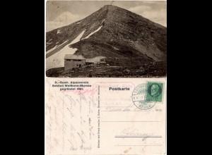 Krottenkopf Hütte DÖ Alpenverein Sektion Weilheim Murnau, 1917 gebr. sw-AK
