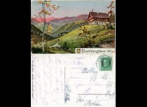 Blomberg Haus, Bad Tölz Unterkunftshaus, 1916 gebr. Farb-AK